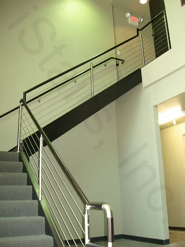 Cable railing w/beech top